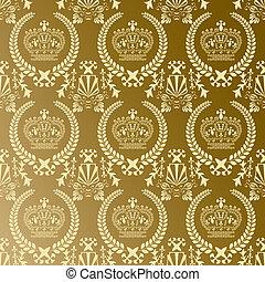 goud, model, kroon, abstract
