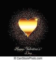 goud, schitteren, 0801, achtergrond, dag, valentines