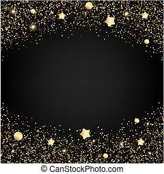 goud, schitteren, achtergrond, sterretjes