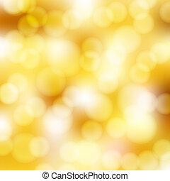 gouden, abstract, bokeh, achtergrond