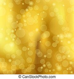 gouden, abstract, illustratie, bokeh, vector, achtergrond