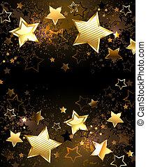 gouden achtergrond, sterretjes