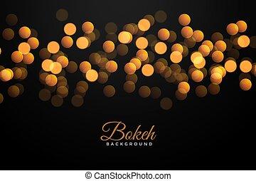 gouden, bokeh, black , effect, achtergrond