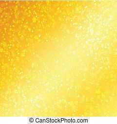 gouden, bokeh, luxe, achtergrond, defocused
