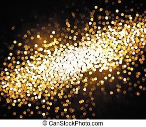 gouden, bokeh, vector, achtergrond