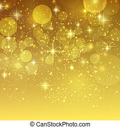 gouden, bokeh, vector, vakantie, achtergrond
