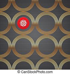 gouden, communie, abstract, metaal, seamless, textuur, donker, vector, luxe, achtergrond, ronde