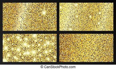gouden, effect, achtergrond, schitteren