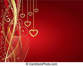 gouden, hartjes