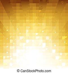 gouden, zonnestraal, sterretjes, achtergrond