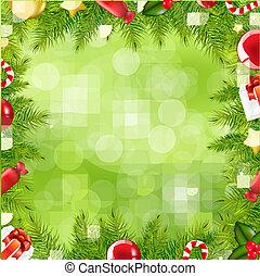 grens, kerstmis, verdoezelen, boompje