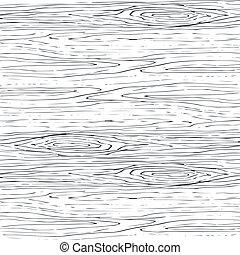 grijs, houten, hout, pattern., seamless, textuur, achtergrond., vector, boon