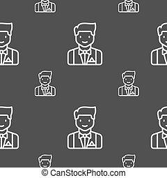 grijs, model, teken., seamless, achtergrond., vector, lakeien, pictogram