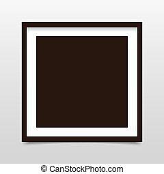 grijs, plein, fotokader, achtergrond, schaduw