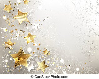 grijze achtergrond, goud, sterretjes