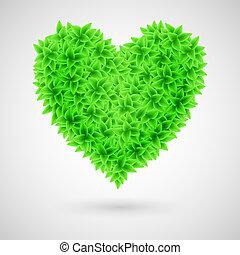 groene, heart.