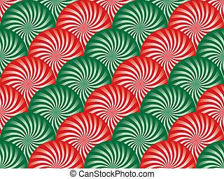 groene, pepermunt, achtergrond, rood