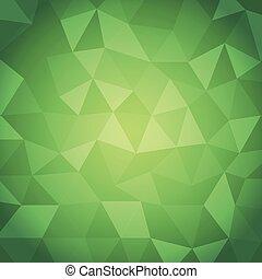 groene samenvatting, driehoek, achtergrond