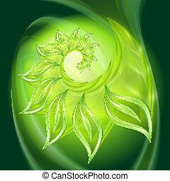 groene samenvatting, leav, achtergrond