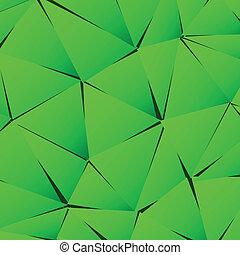 groene samenvatting, papier, driehoek, achtergrond