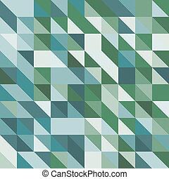 groene samenvatting, toon, driehoeken, achtergrond