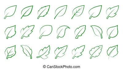 groene, set, blad