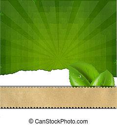 groene, zonnestraal, achtergrond, textuur