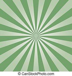 groene, zonnestraal