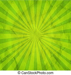groene, zonnestraal, retro, achtergrond