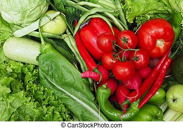 groente, hart, rood