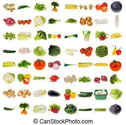 groente, verzameling, reusachtig