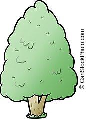 groot, boompje, spotprent