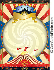 groot bovenst, circus, poster