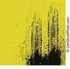 grunge, gele achtergrond