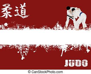 grunge, judo, poster