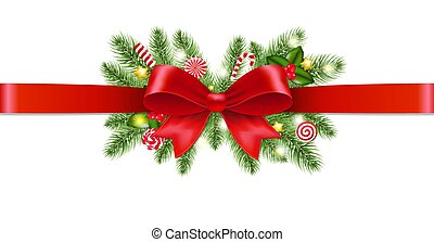 guirlande, kerstmis, achtergrond, transparant