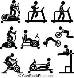 gym, gymnasium, oefening, fitness
