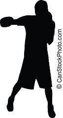 haak, silhouette, links