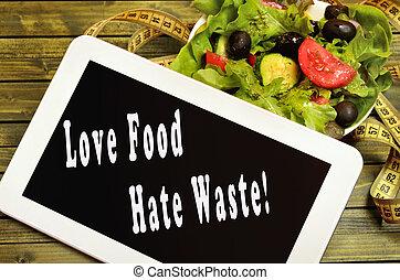 haat, afval, liefde, voedingsmiddelen