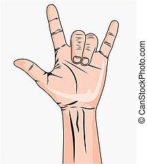 hand, man's