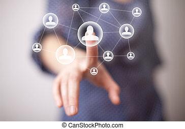 hand, media, dringend, pictogram, sociaal