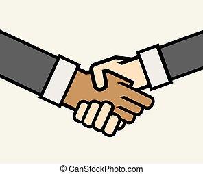 handdruk, multicultural handel