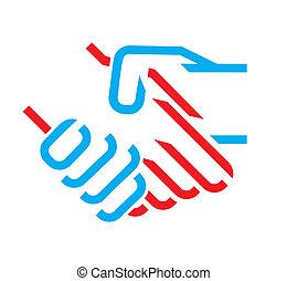 handdruk, pictogram