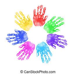 handen, onderricht kinderen