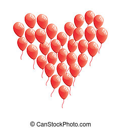 hart, abstract, balloon, rood