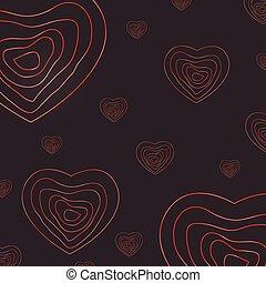 hart, abstract, dag, achtergrond, valentijn