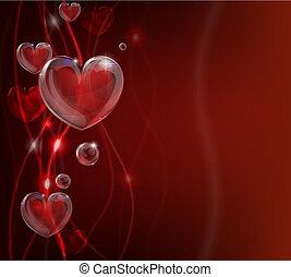 hart, abstract, valentines dag, backg