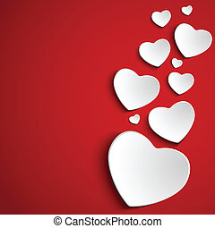 hart, achtergrond, rood, dag, valentijn