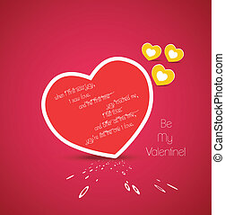 hart, begroetenen, valentijn