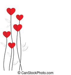 hart, card., paper., valentines, vakantie, dag